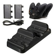 Chargeur Double Socle Stand Station 2 Batterie USB Câble pour Xbox One Manette