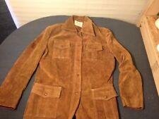 Fingerhut Fashions Brown Genuine Cowhide Leather Jacket Vintage MOD Motorcycle