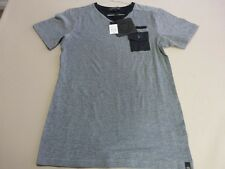 056 MENS NWT DAVID & GOLIATH VETTMANN GREY / BLACK S/S V-NECK T-SHIRT SML $70.