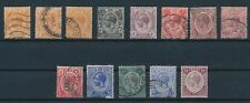 Strait Settlements **13 GEORGE V ISSUES (1912-1927)**; MH & USED; CV $42