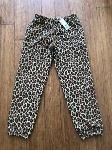 ADIDAS JEREMY SCOTT LEOPARD PRINT SWEAT PANTS TRACK  *WITHOUT CLAWS*
