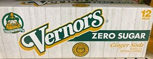 Vernors Zero Sugar Ginger Soda 12 oz Cans (Pack Of 12)
