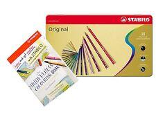 STABILO Original Mince plomb Crayons-Boîte de 38 avec Adulte Livre De Coloriage