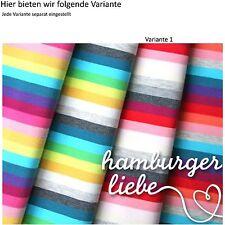 Hamburger Liebe Bio Regenbogen Jersey Variante 1 Ringel Streifen rot grau rosa