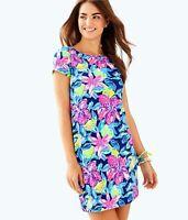 NWOT Lilly Pulitzer Short Sleeve Marlowe Dress Nauti Navy Soleil Large L