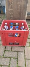 More details for barr iron bru a g barr 12 retro bottles + crate 1990s on tv prop display etc