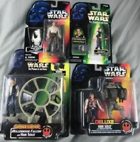 Lot (4) Hasbro Star Wars Power Of The Force-Han Solo Carbonite Gunner Station
