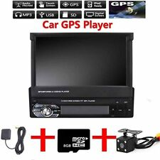 "7"" Single 1DIN Auto Mp5 Player Radio Stereo Kopfeinheit GPS Sat Nav+Karte+Kamera"