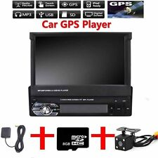 "7"" 1DIN Bluetooth GPS Navigation Stereo Radio Video Car MP5 Player + Camera 12V"