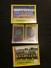 Panini Football 87 - Plymouth & Portsmouth Badge and Teams