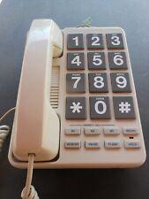 RADIO SHACK CORDED BIG BUTTON TELEPHONE/Volumn, Ringer Control/XLNT WORKING COND