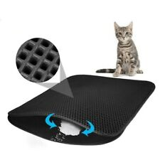 Litter Mat Cat Pets Layer Waterproof Double Trapping Clean Pad Product Non Slip