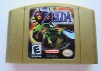 🔥*GOOD* Zelda Majoras Mask Holographic Gold Nintnedo 64 N64 RPG Video Game Rare