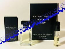 LOT of 2~Ralph Lauren ROMANCE for MEN EDT 0.25fl.oz/7ml+SAMPLE Free PRIORITY