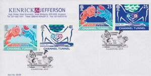 GB STAMPS CHANNEL TUNNEL FIRST DAY COVER 1994 KENRICK & JEFFERSON