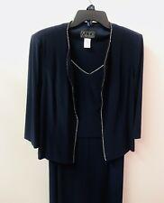 Alex Evenings 12 Navy Blue Rhinestones 2 Piece Dress Mother Of Bride Euc Lkn