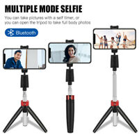Extendable Wireless Tripod Selfie Stick For iPhone Samsung Bluetooth Remote Fold