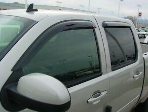 Chevy Silverado 1500 Crew Cab 2007 - 2013 Wind Deflector Vent Visor Shades 4pc