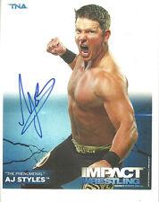 m487 A.J. Styles signed wrestling 8x10 w/Coa
