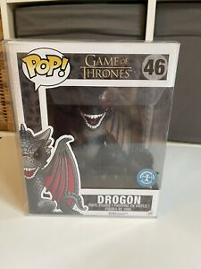 #46 Drogon - 6 Inch Funko Pop Game of Thrones - Exclusive - ,free  protector