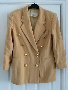 Escada, Dusty Yellow/Orange, Wool Blend Jacket, DE42 (Large or UK16)