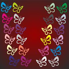 24x  Schmetterlinge 3.5 x 3.2cm Aufkleber Auto Kinderzimmer  Wandtattoo Tatoo F
