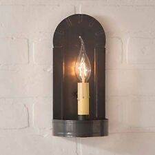 Fireplace Single Arm Wall Sconce in Blackened Tin by Irvin's Country Tinware