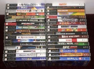 Playstation PSP Games and Movies Fun Pick & Choose Video Games Updated 3/4/21