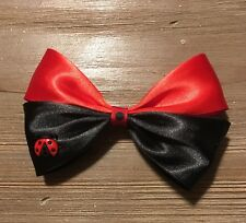 Handmade Red And Black Miraculous Ladybug Cat Noir Hairbow