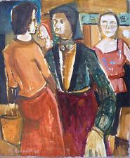Michel BONNAUD (1934-2008) HsT de 1962 Figuration narrative Avignon Fauviste