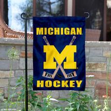 Michigan Wolverines Hockey Garden Flag and Yard Banner