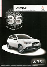 Prospekt / Brochure Mitsubishi ASX Sondermodell 35 Jahre 05/2012