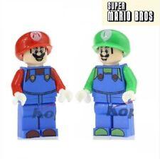 GS - Super Mario Bross + Luigi - Nuovo in Blister Minifigures Custom Simil LEGO
