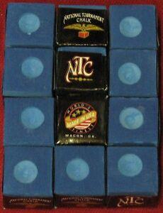 National Tournament Chalk ~ VINTAGE  from Gandy ~ color: LIGHT BLUE ~ 12 pieces