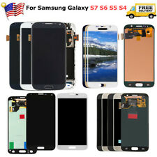For Samsung Galaxy S4 S5 S6 S7 LCD Screen Touch Digitizer Replacement + frame