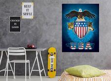 3D USA Trinity O76 Wall Stickers Vinyl Wallpaper Mural Murals Vincent Ava