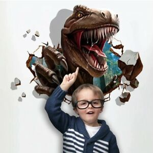 3D Dinosaur wall stickers kids rooms Assault Bedroom living room decoration