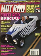 Hot Rod Magazine September 1993 Headers And Exhaust / Street Rod Special