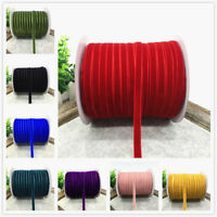 """5 Yards 3/8"""" 10mm Velvet Ribbon Clips Crafts Sew Clips Bow Decoration"""