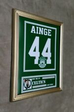Boston Celtics Danny Ainge 8x10 framed Jersey photo Green X