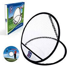 PGA TOUR - Single Ring Chipping Target Practice Golf Net Training Aid Practise
