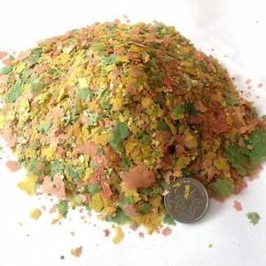 Tropical Ornamental Fish Food Goldfish Carp Small Fish Food 3 Color Flakes Feed