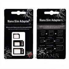 Convert Nano SIM Card to Micro Standard SIM Adapter Set For  iPhone 7 6s plus