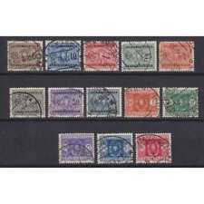 REGNO D'ITALIA 1934 SEGNATASSE STEMMA CON FASCI 13 VALORI N.34-46 USATI