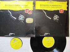 "2* 12"" Lp's Beethoven 1 & 2,  2nd Lp is no 7. B P Karajan DG 138 801 and 806"