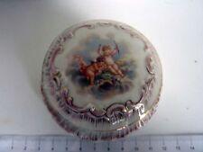Belle Boite à Bijoux Bonbonniere Boite à dents- Porcelaine Aux Chérubins 19eme