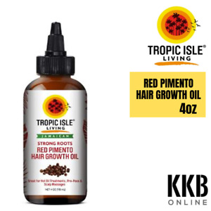 Strong Roots Red Pimento Hair Growth 100% Pure Jamaican Black Castor Oil 4oz