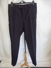 High Regular Flat Front 32L Trousers for Men