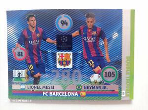 Messi Neymar JR Double Trouble Champions League 2014-2015 FC Barcelona Panini