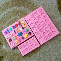 3pc Alphabet Buchstaben Anzahl Silikon Fondant Mold Geburtstag Kuchen Dekor C6Q9
